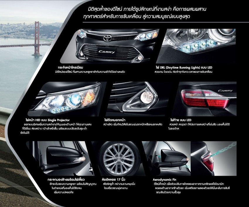 2015 Toyota Camry facelift range launched in Thailand – gets new 2.0L VVT-iW D-4S engine and 6-speed auto Image #317791