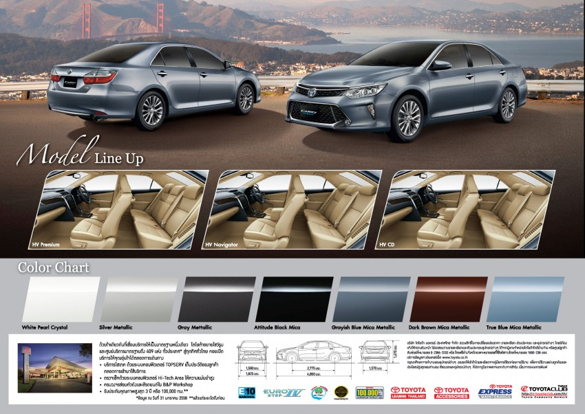 2015 Toyota Camry facelift range launched in Thailand – gets new 2.0L VVT-iW D-4S engine and 6-speed auto Image #317856