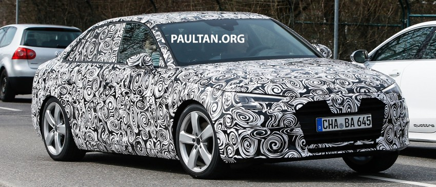 Audi A4 B9 leaked undisguised, including interior Image #322877