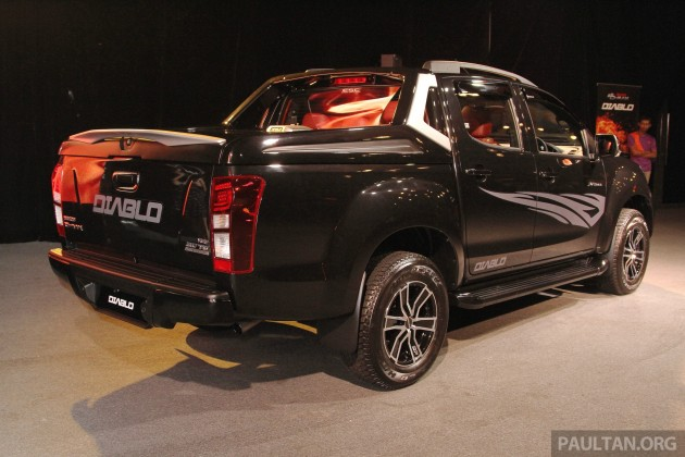 isuzu d max diablo launched priced from rm107 077. Black Bedroom Furniture Sets. Home Design Ideas