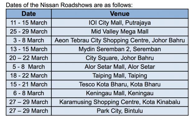 nissan ucl roadshow dates