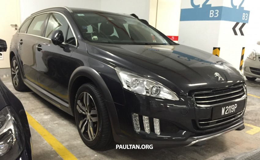 SPIED: Peugeot 508 RXH HYbrid4 in basement parking Image #320276