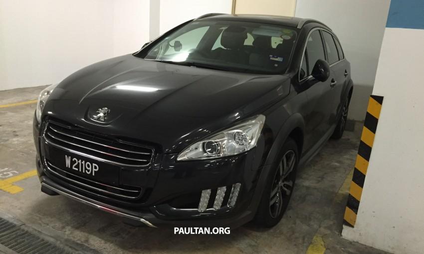 SPIED: Peugeot 508 RXH HYbrid4 in basement parking Image #320283