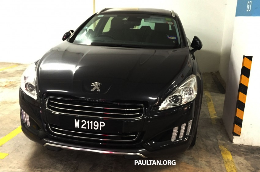 SPIED: Peugeot 508 RXH HYbrid4 in basement parking Image #320284