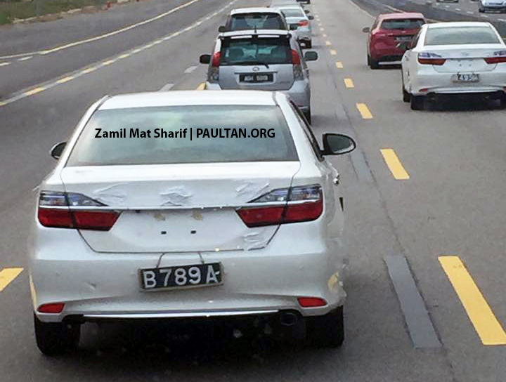 Toyota Camry facelift spotted on the road in Malaysia! Image #319698