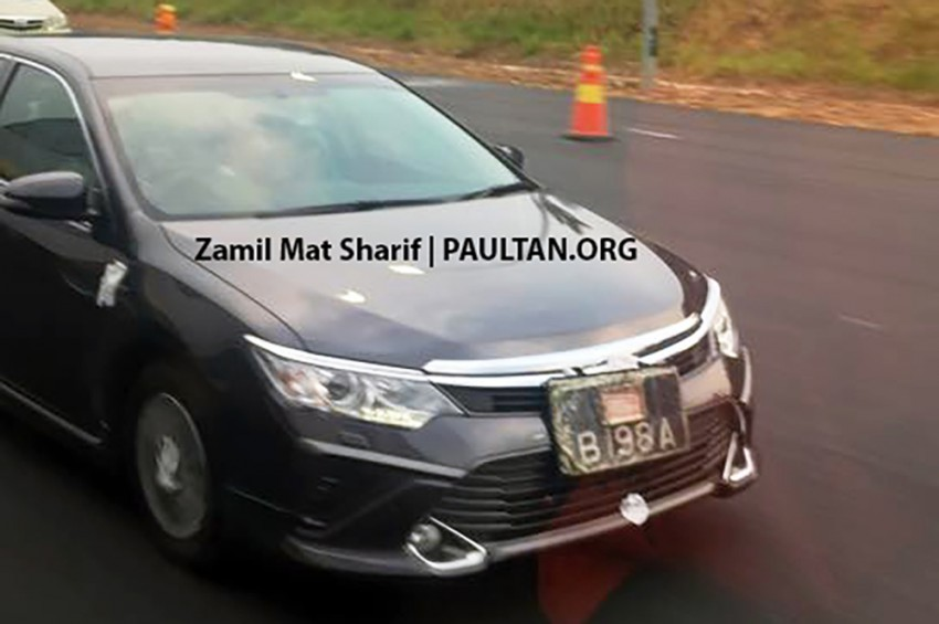 Toyota Camry facelift spotted on the road in Malaysia! Image #319733