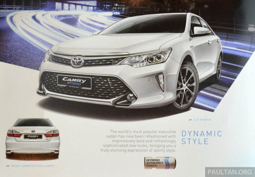 2015 Toyota Camry launched in Malaysia – new 6-spd 2.0E RM150k, 2.0G RM160k, 2.5 Hybrid RM175k Image #323962