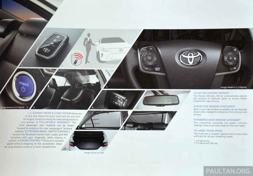 2015 Toyota Camry launched in Malaysia – new 6-spd 2.0E RM150k, 2.0G RM160k, 2.5 Hybrid RM175k Image #323968