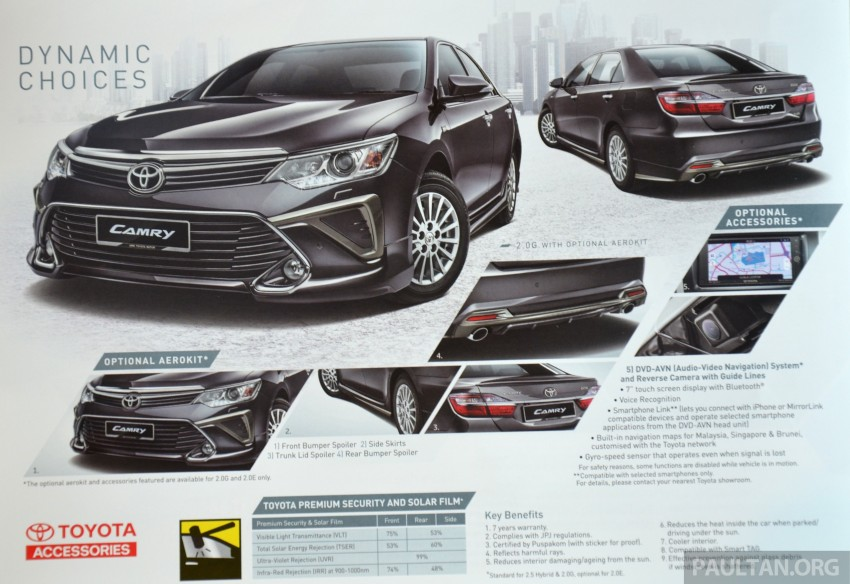 2015 Toyota Camry launched in Malaysia – new 6-spd 2.0E RM150k, 2.0G RM160k, 2.5 Hybrid RM175k Image #323973