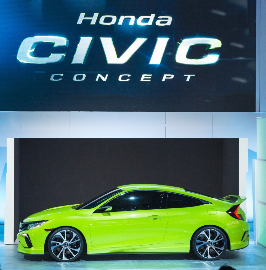 Honda Civic Concept debuts in NYC, previews tenth-gen for ASEAN – Type R hatch confirmed for US Image #323896