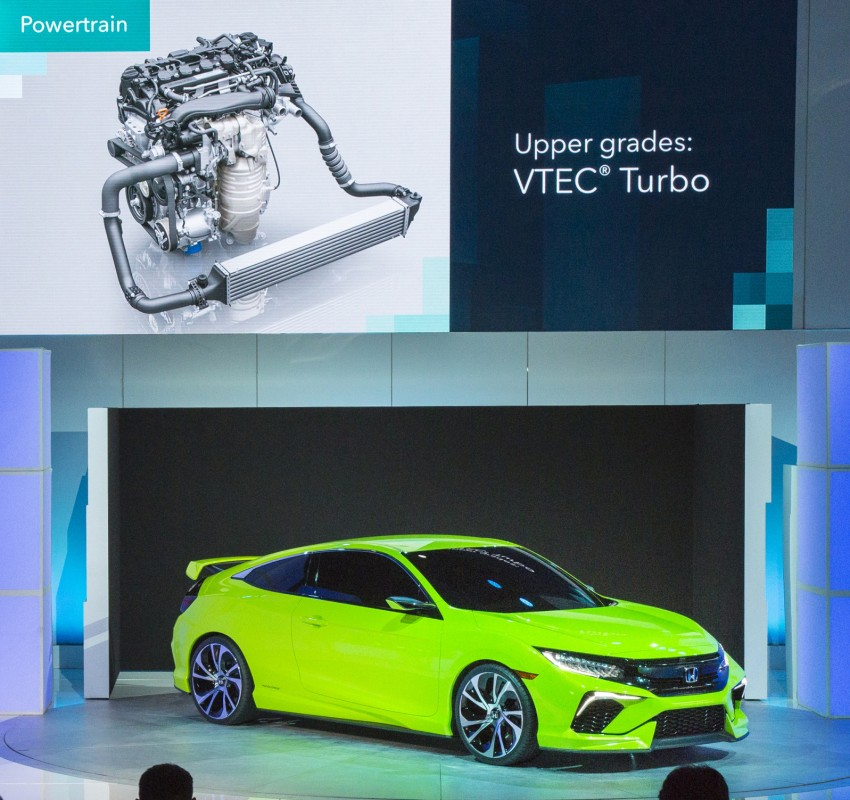 Honda Civic Concept debuts in NYC, previews tenth-gen for ASEAN – Type R hatch confirmed for US Image #323897