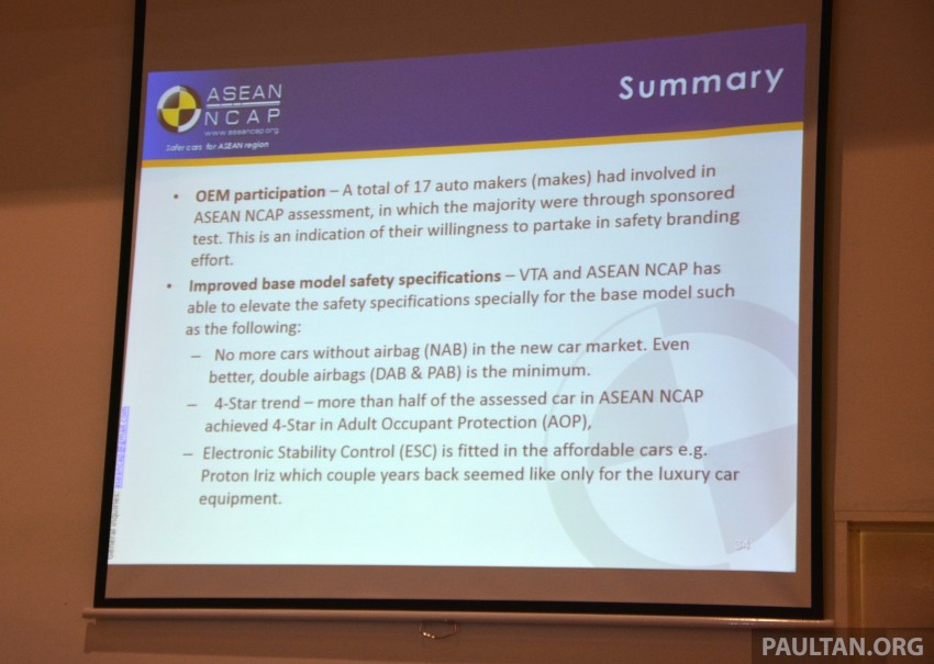 ASEAN NCAP updates – new testing protocols by 2020 Image #331542