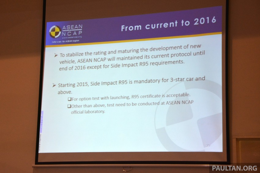 ASEAN NCAP updates – new testing protocols by 2020 Image #331532