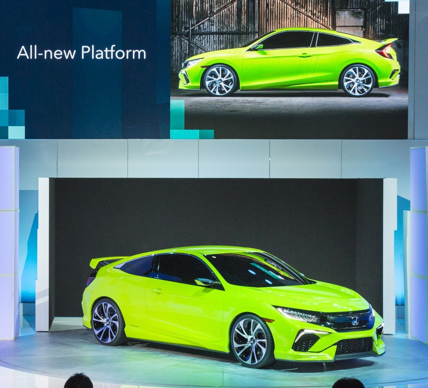 Honda Civic Concept debuts in NYC, previews tenth-gen for ASEAN – Type R hatch confirmed for US Image #323894