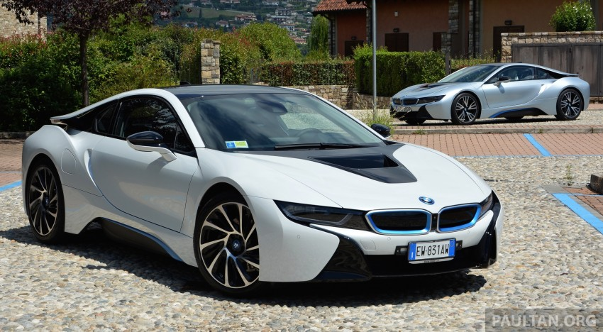 DRIVEN: BMW i8 plug-in hybrid sports car in Milan Image #329774