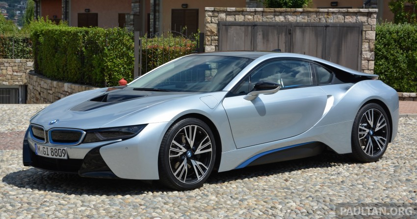 DRIVEN: BMW i8 plug-in hybrid sports car in Milan Image #329785