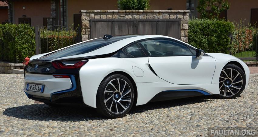 DRIVEN: BMW i8 plug-in hybrid sports car in Milan Image #329786