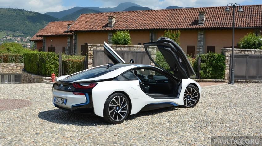 DRIVEN: BMW i8 plug-in hybrid sports car in Milan Image #329787
