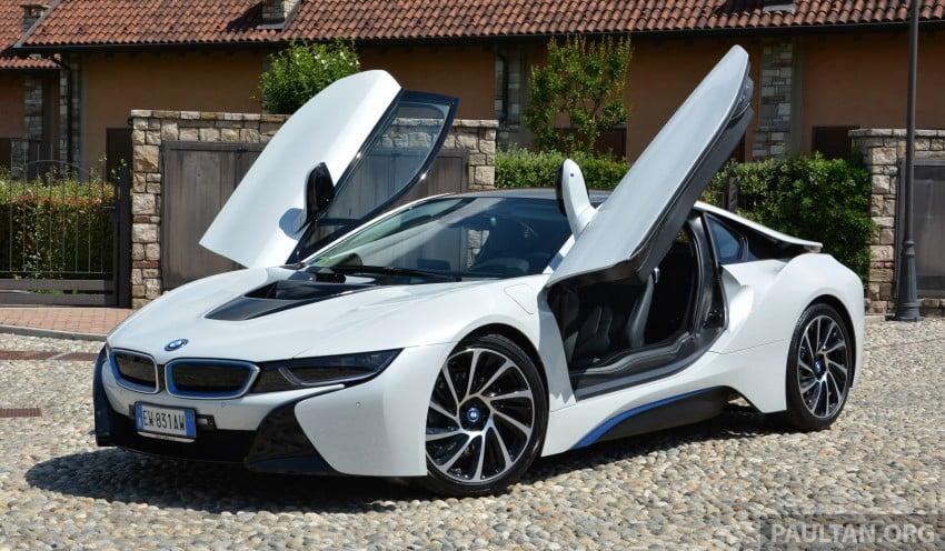 DRIVEN: BMW i8 plug-in hybrid sports car in Milan Image #329790