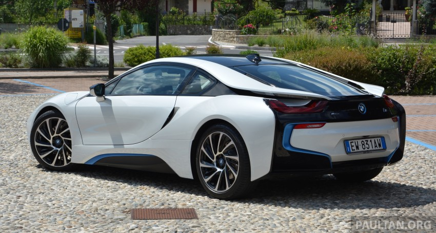 DRIVEN: BMW i8 plug-in hybrid sports car in Milan Image #329791