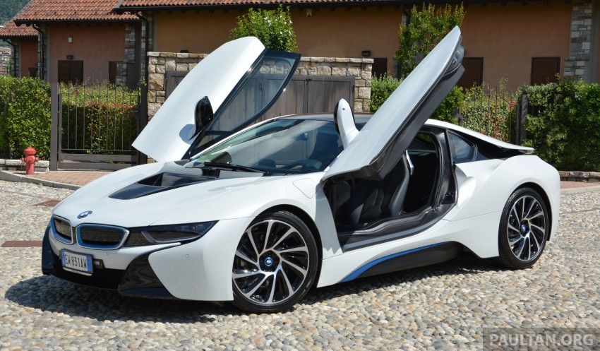 DRIVEN: BMW i8 plug-in hybrid sports car in Milan Image #329775