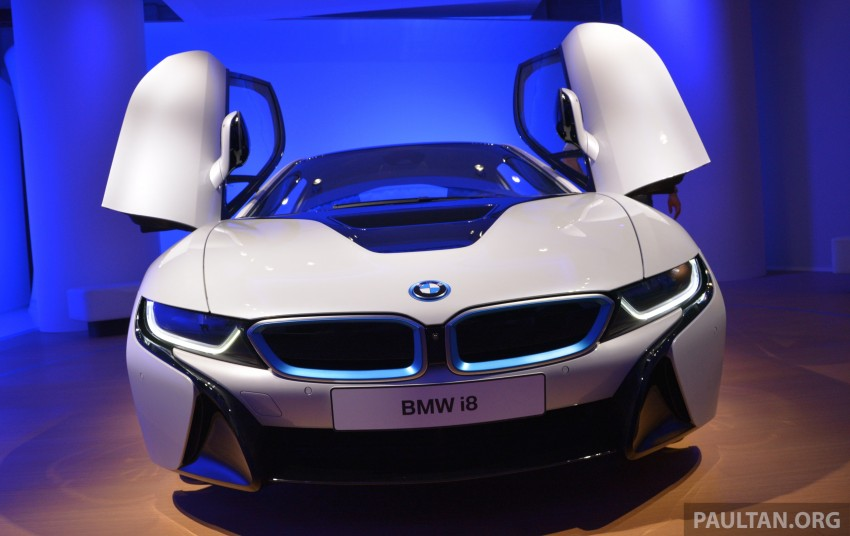 DRIVEN: BMW i8 plug-in hybrid sports car in Milan Image #329802