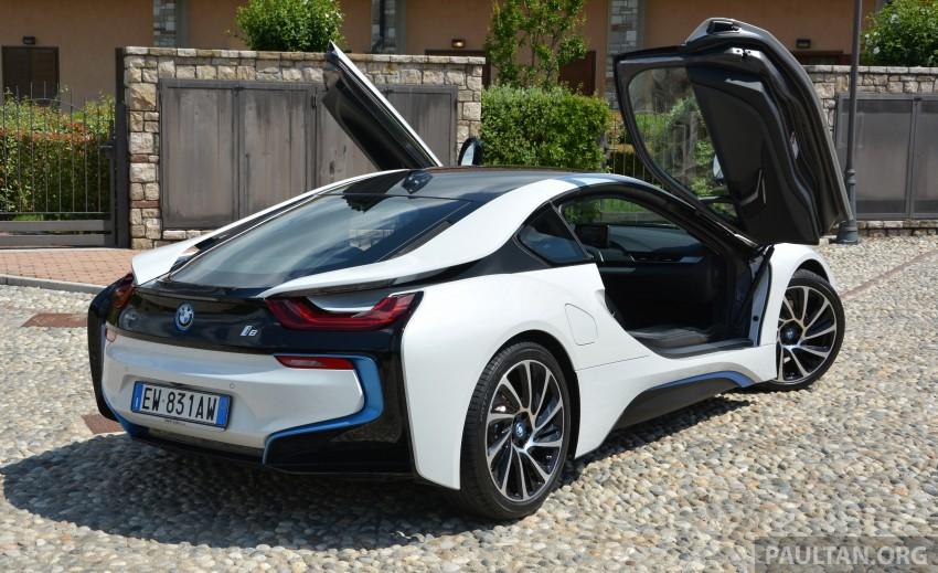 DRIVEN: BMW i8 plug-in hybrid sports car in Milan Image #329776