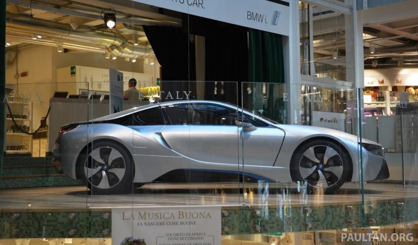 DRIVEN: BMW i8 plug-in hybrid sports car in Milan Image #329815