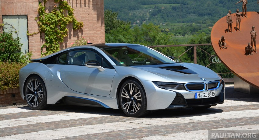 DRIVEN: BMW i8 plug-in hybrid sports car in Milan Image #329778