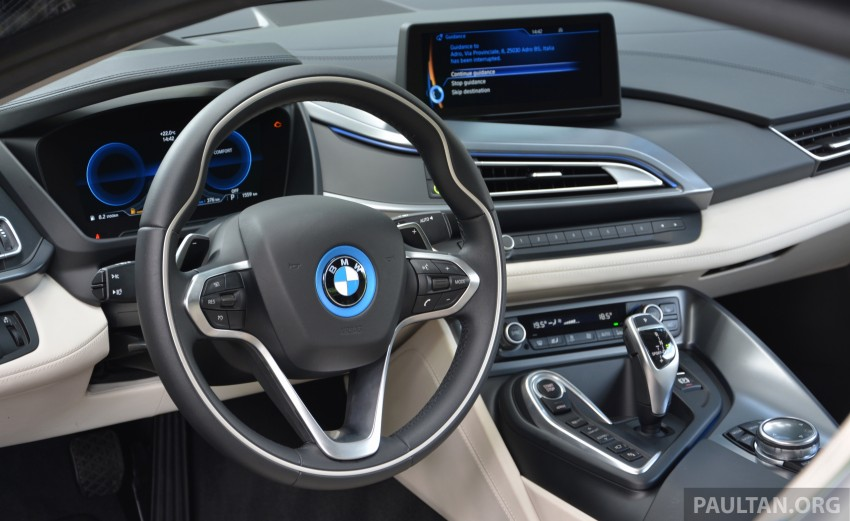 DRIVEN: BMW i8 plug-in hybrid sports car in Milan Image #329825