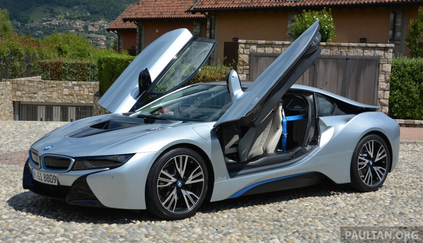 DRIVEN: BMW i8 plug-in hybrid sports car in Milan Image #329781