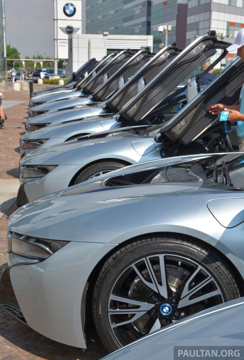 DRIVEN: BMW i8 plug-in hybrid sports car in Milan Image #329865