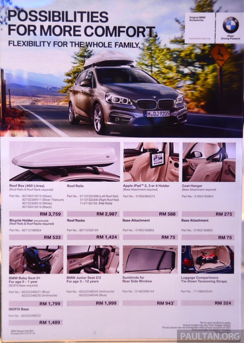 F45 BMW 218i Active Tourer introduced – from RM219k Image #328921