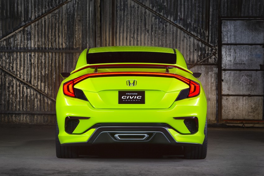 Honda Civic Concept debuts in NYC, previews tenth-gen for ASEAN – Type R hatch confirmed for US Image #323876