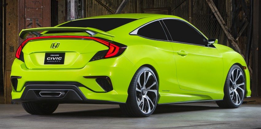 Honda Civic Concept debuts in NYC, previews tenth-gen for ASEAN – Type R hatch confirmed for US Image #323882