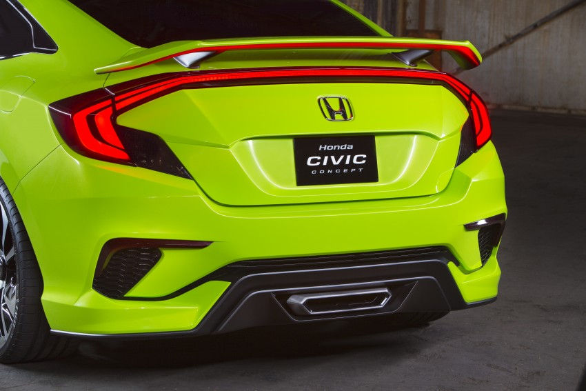 Honda Civic Concept debuts in NYC, previews tenth-gen for ASEAN – Type R hatch confirmed for US Image #323892