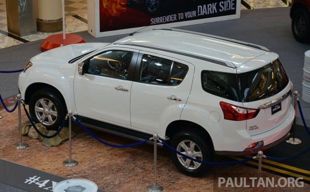 Isuzu Mu X 7 Seater 2 5l Suv Previewed In Malaysia