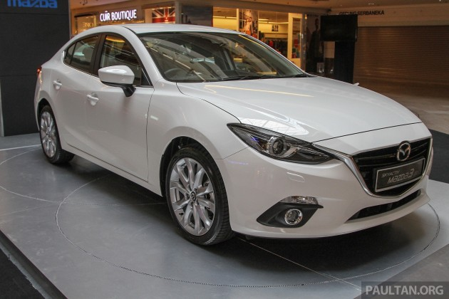 Mazda 3 CKD launched in Malaysia, RM106k-121k