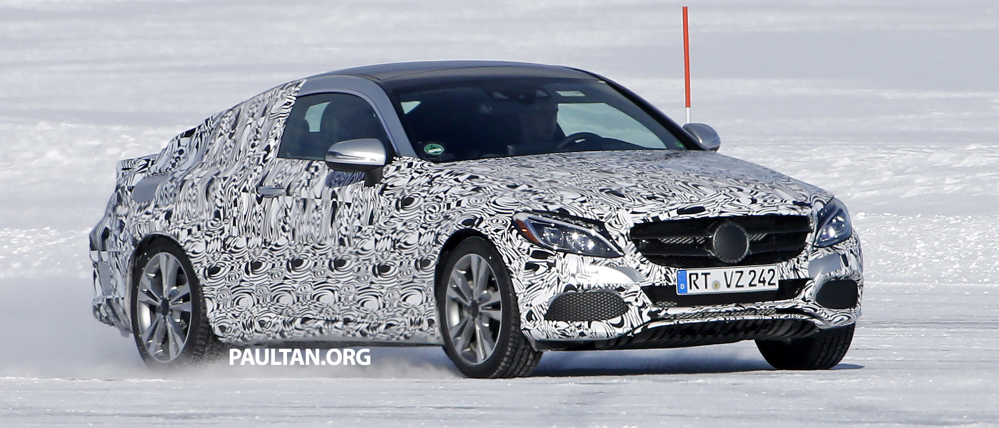 Spied Mercedes Benz C Class Coupe Figure Skating Image 325550