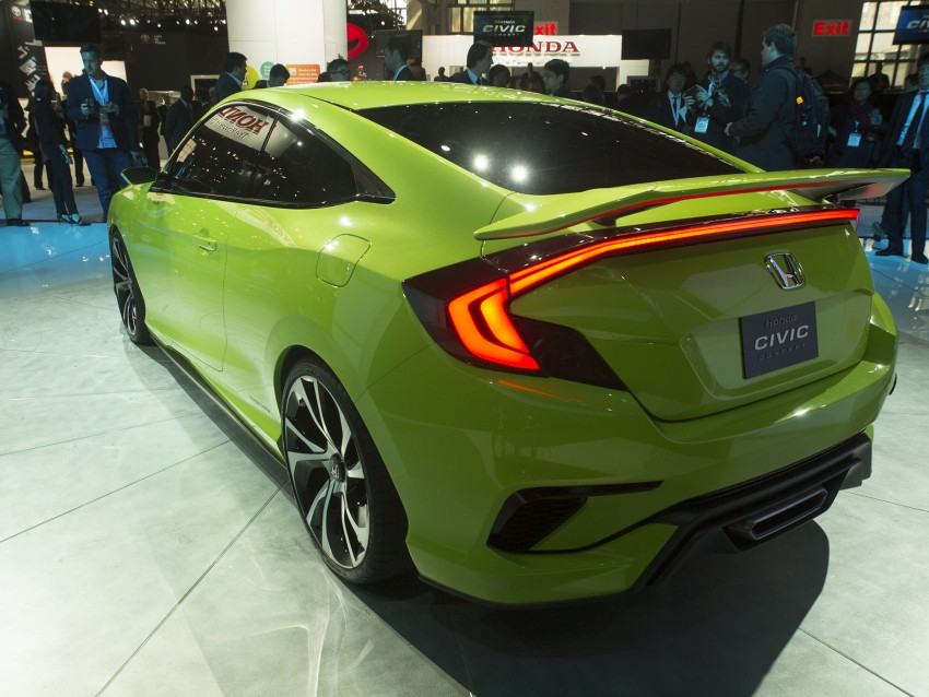 Honda Civic Concept debuts in NYC, previews tenth-gen for ASEAN – Type R hatch confirmed for US Image #324305