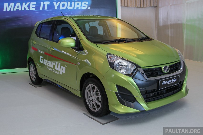 Perodua launches GearUp bodykit and accessories for both Axia faces, Standard and SE – Myvi next month Image #328650