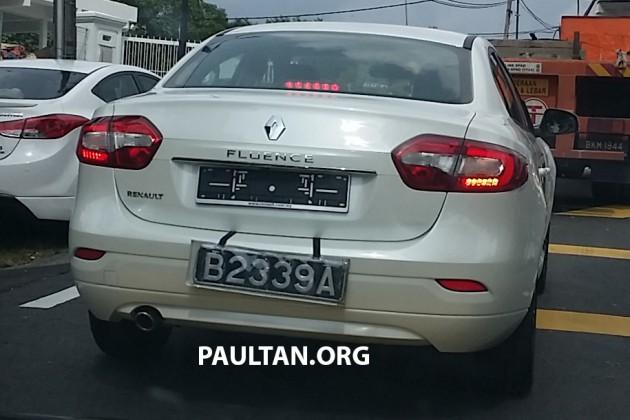 Renault Fluence facelift spyshot
