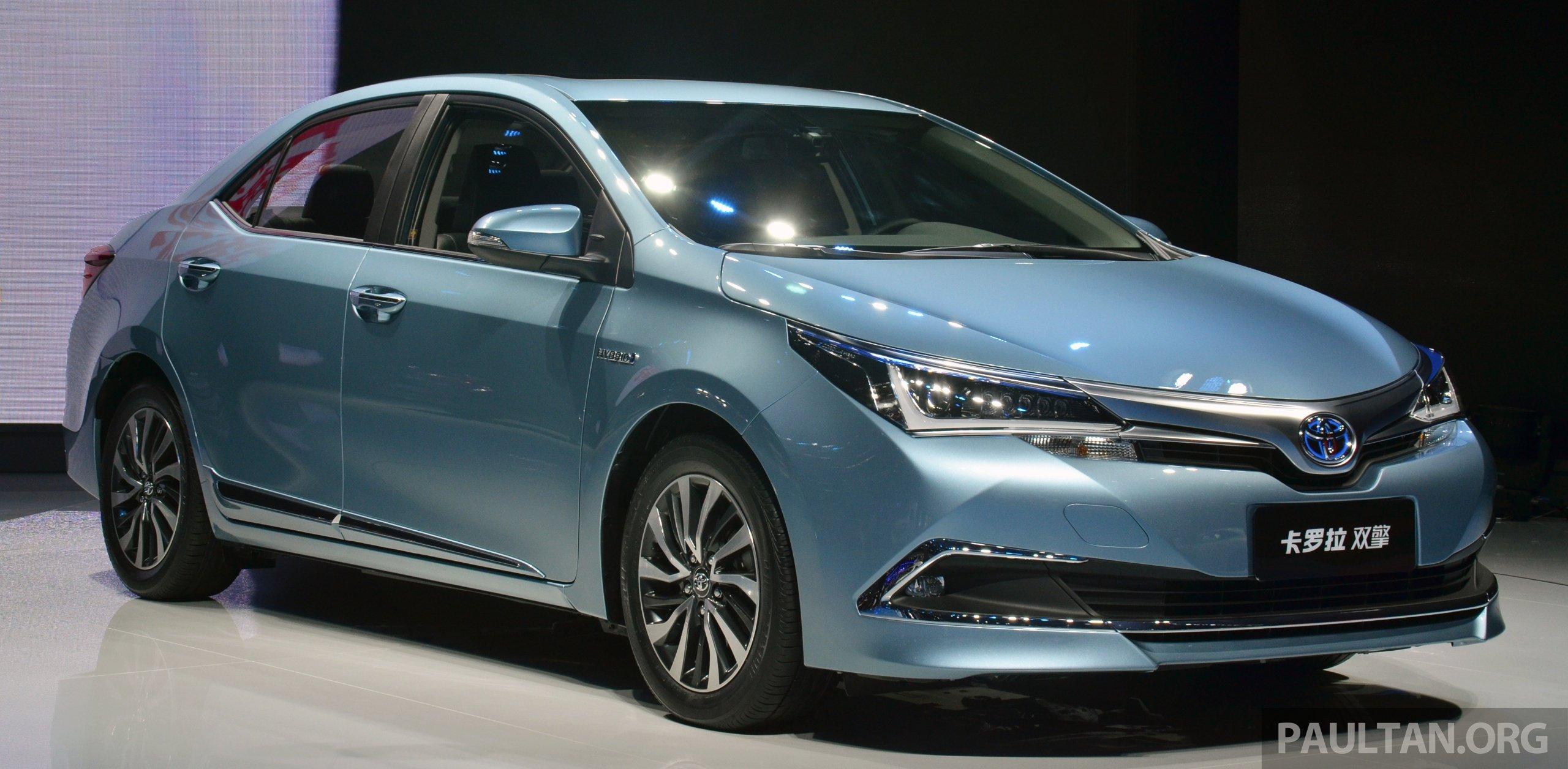 Shanghai 2015 Toyota Corolla Hybrid Levin Hev Debut