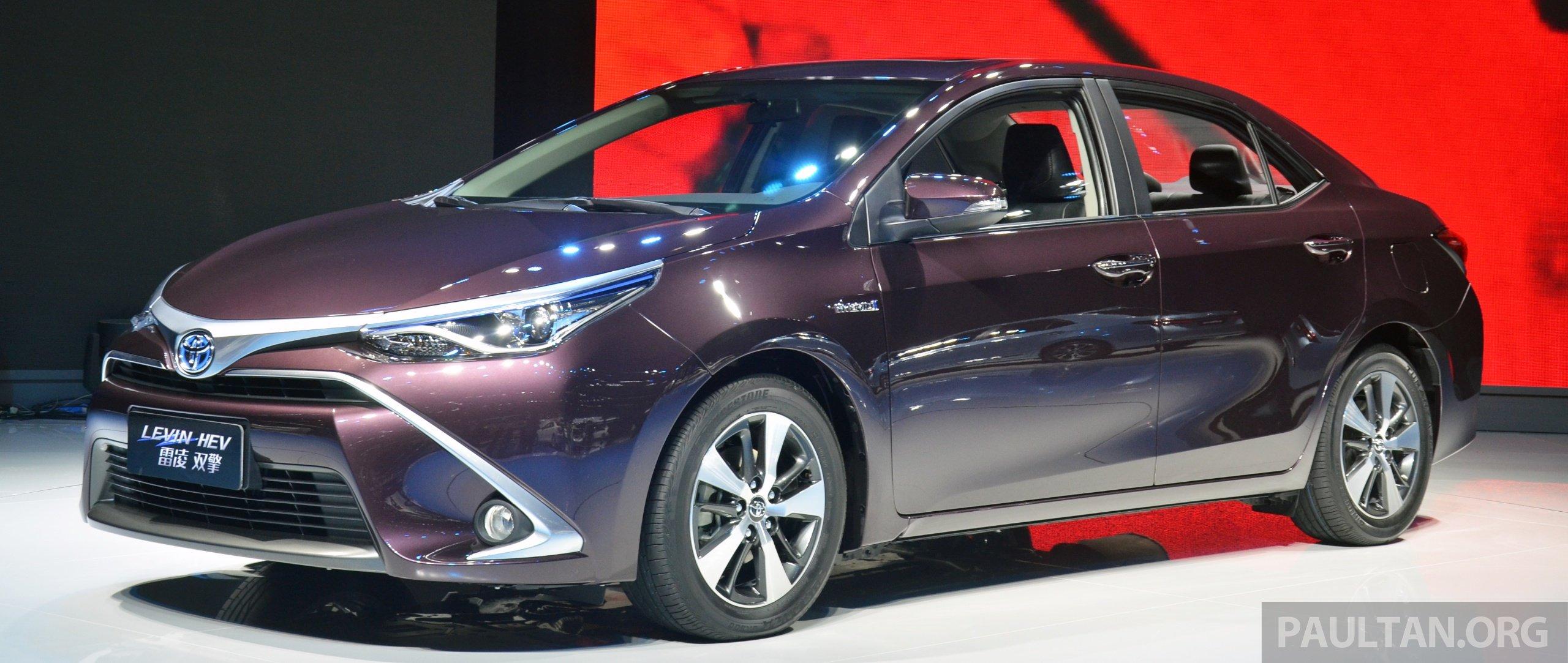 Shanghai 2015 Toyota Corolla Hybrid Levin Hev Debut Paul