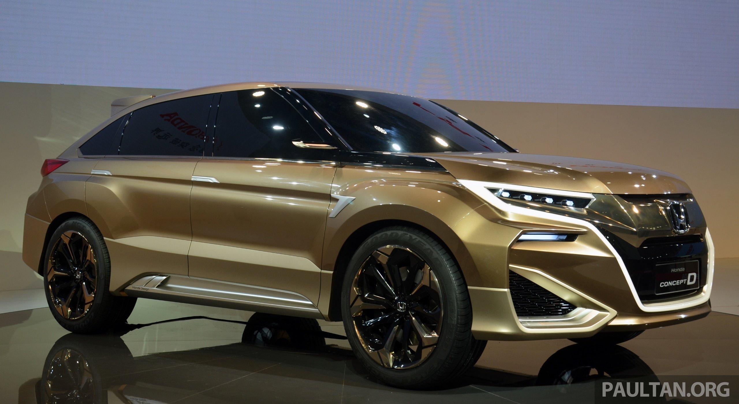 Honda Crv Hybrid >> Shanghai 2015: Honda Concept D previews new SUV Image 330310
