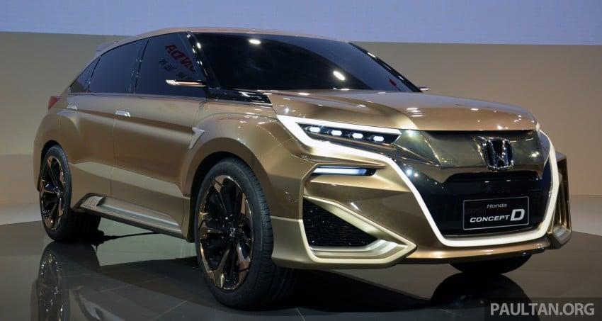 Shanghai 2015: Honda Concept D previews new SUV Image #330311