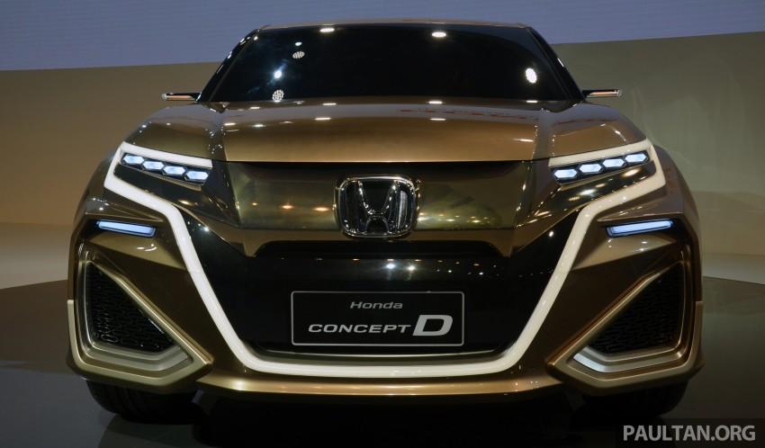 Shanghai 2015: Honda Concept D previews new SUV Image #330312