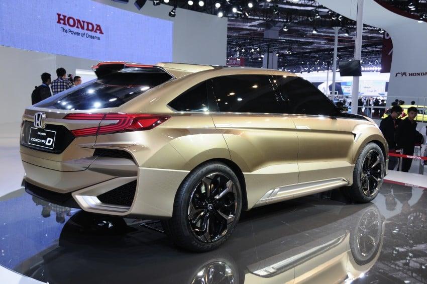Shanghai 2015: Honda Concept D previews new SUV Image #332662