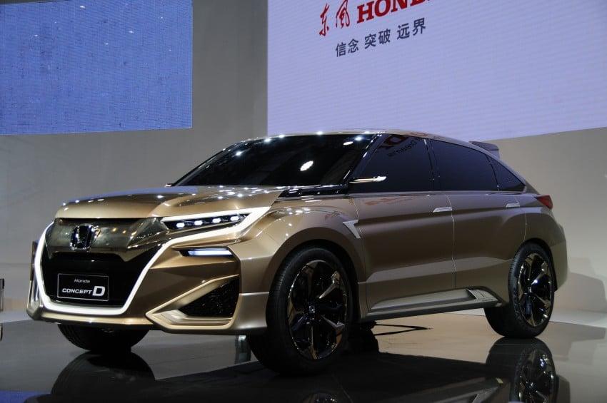 Shanghai 2015: Honda Concept D previews new SUV Image #332665