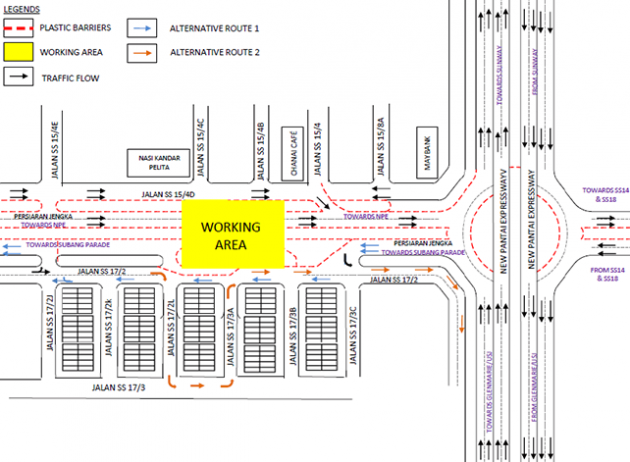 persiaran-jengka-road-closure-diversions-prasarana